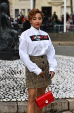Amandla Stenberg Outside Miu Miu show PFW Womenswear F/W 2019/2020 in Paris