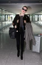 Amber Heard At Heathrow Airport London
