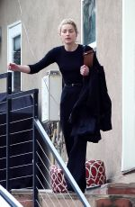 Amber Heard Attends a business meeting in Los Angeles