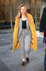 Amber Tamblyn Out during a promotional tour in New York