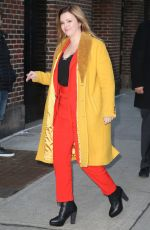 Amber Tamblyn Visiting The Late Show with Stephen Colbert in New York