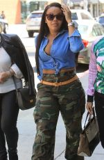 Angela Simmons Runs errands in Beverly Hills