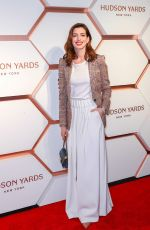 Anne Hathaway Attends Hudson Yards VIP Grand Opening Event in New York City