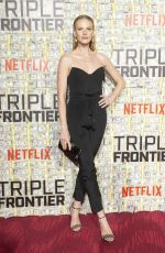 Anne Vyalitsyna At Netflix World Premiere of TRIPLE FRONTIER at Lincoln Center in New York City