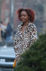 Ashleigh Murray Filming