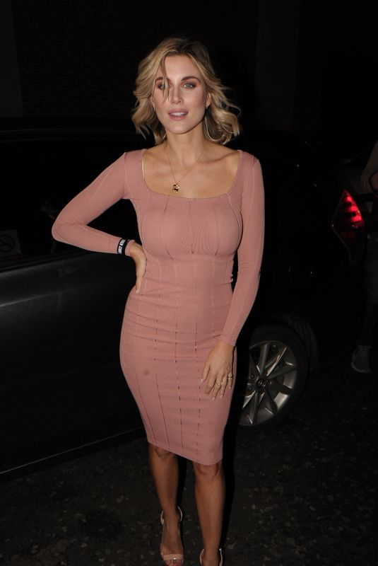 Ashley James In Tight pink dress at InTheStyle clothing launch