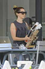 Ashley Tisdale In Her Range Rover And Enjoying A Meal In LA