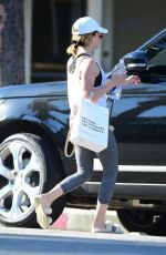 Ashley Tisdale Leaving a yoga studio in Studio City