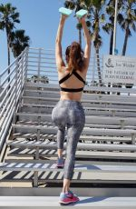 Blanca Blanco Gets in a weekend workout at Venice