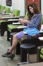 Blanca Blanco Hits the nail salon after returning from Paris while attending Fashion Week