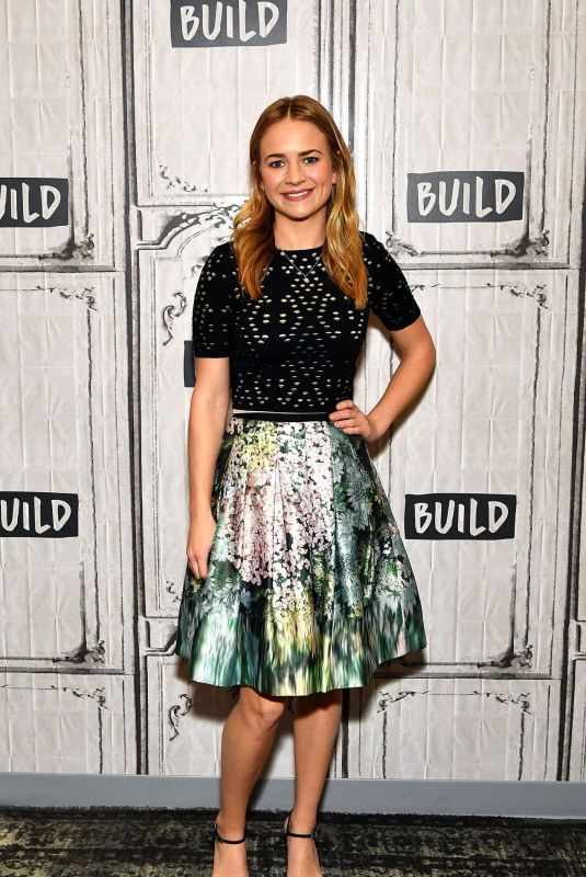 Britt Robertson At AOL Build in NYC