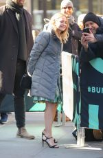 Britt Robertson Leaving the Aol Build studios in NYC