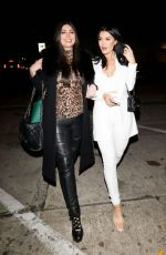 Brittny Gastineau Appears to be in good spirits as she spends her Saturday night out with her friend at Craig