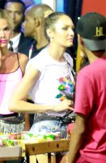 Candice Swanepoel Parties with Neymar