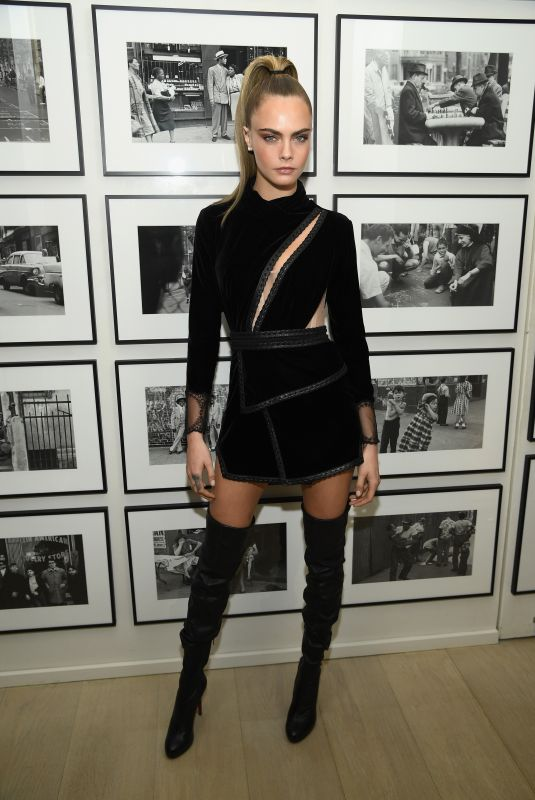 Cara Delevingne Attends the Times Square Edition Premiere in New York City