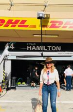 Carol Vorderman At F1 Grand Prix of Bahrain in Bahrain