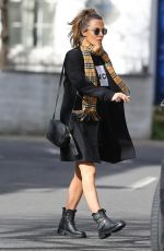 Caroline Flack Out and about in London