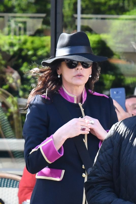 Catherine Zeta-Jones Out in Paris