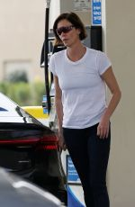 Charlize Theron Does tactical training and later makes a trip to the gas station in LA