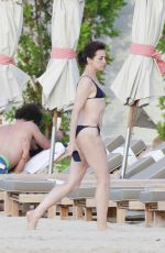 Charlotte Gainsbourg Has a good time on the beach in St. Barts