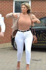 Chloe Ferry and boyfriend Sam Gowland arrived back in Newcastle in style
