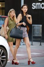 Cindy Kimberly Went for a bite to eat with a friend in downtown Barcelona