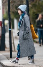 Claire Foy Leaving Bodyism in Notting Hill