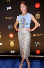 Constance Jablonski At 2019 One Night for One Drop blue carpet arrivals at Bellagio Las Vegas