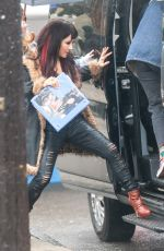 Constance Wu On set for the first day of the