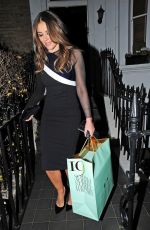 Elizabeth Hurley Leaving her home in London