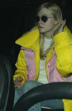 Elle Fanning At LAX