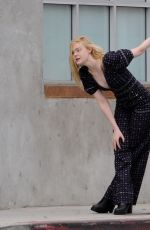 Elle Fanning Filming a music video for her new movie