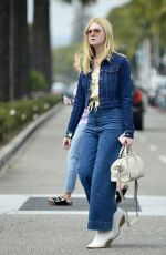 Elle Fanning Out for a shopping trip in Beverly Hills