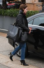 Emilia Clarke Shops with a friend at Barneys New York in Beverly Hills