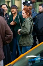 Emily Osment & Brittany Snow On the set of
