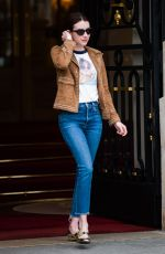 Emma Roberts Leaves Ritz hotel in Paris