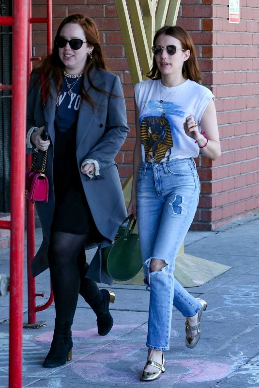 Emma Roberts Out for lunch in Los Angeles