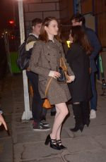 Emma Stone Arriving at Louis Vuitton after party in Paris