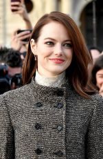 Emma Stone At Louis Vuitton Show PFW Womenswear F/W 2019/2020