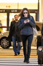 Emmy Rossum At LAX