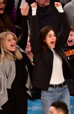 Emmy Rossum At Los Angeles Lakers vs New York Knicks game in New York