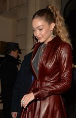 Gigi Hadid Arriving at Tommy Hilfiger fashion show in Paris