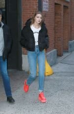 Gigi Hadid Leaving a studio after doing another photoshoot for Maybelline in NYC