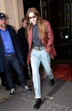 Gigi Hadid Out in Paris France