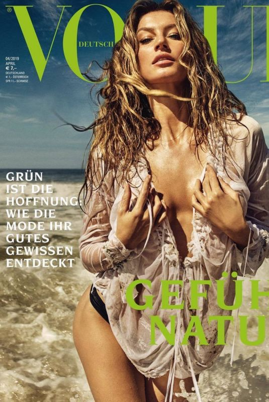 Gisele Bundchen - Vogue Magazine Germany, April 2019