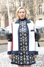 Gwendoline Christie At Miu Miu show during the Paris Fashion Week in Paris