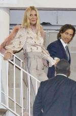Gwyneth Paltrow and Brad Falchuk are all smiles as they arrive at an event in Hollywood