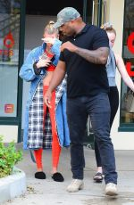 Hailey Baldwin Is joined by security as she goes to her hot pilates class in Los Angeles