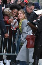 Haley Lu Richardson At The View to talk about her new movie Five Feet Apart in NYC