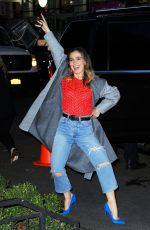 Haley Lu Richardson Gets silly for the cameras as she returns to her New York hotel